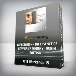 IC11 Workshop 15 – Expectation – The Essence of Very Brief Therapy – Rubin Battino